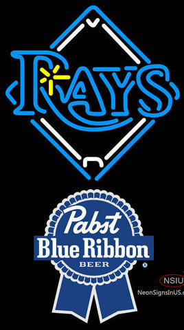 Pabst Blue Ribbon Tampa Bay Rays MLB Neon Sign