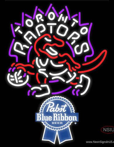 Pabst Blue Ribbon Toronto Raptors NBA Neon Sign