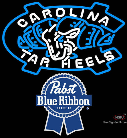 Pabst Blue Ribbon Unc North Carolina Tar Heels MLB Neon Sign