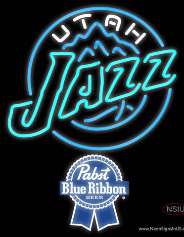 Pabst Blue Ribbon Utah Jazz NBA Neon Sign