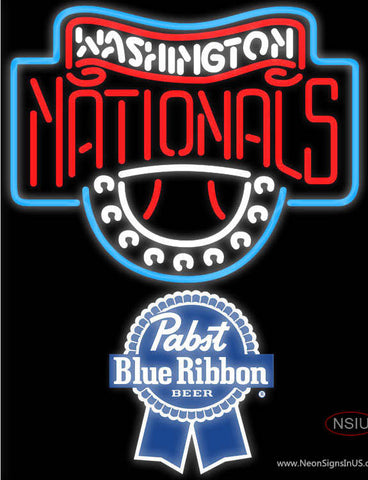 Pabst Blue Ribbon Washington Nationals MLB Neon Sign