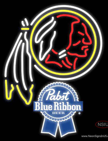 Pabst Blue Ribbon Washington Redskins NFL Neon Sign