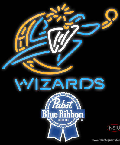 Pabst Blue Ribbon Washington Wizards NBA Neon Sign