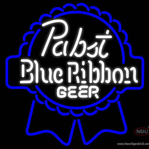 Pabst Blue White Ribbon Neon Beer Sign