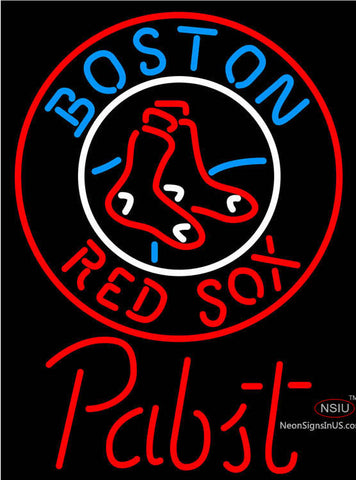 Pabst Boston Red Sox MLB Beer Neon Sign