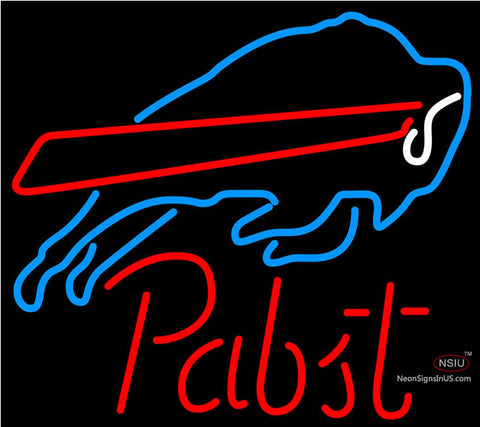 Pabst Buffalo Bills NFL Beer Neon Sign