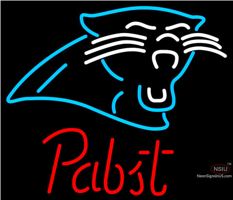Pabst Carolina Panthers NFL Beer Neon Sign