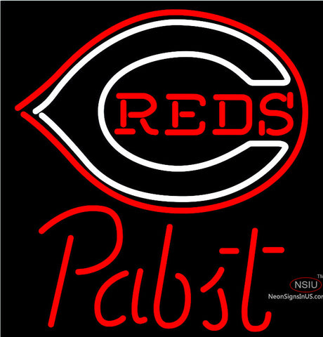 Pabst Cincinnati Reds MLB Beer Neon Sign x