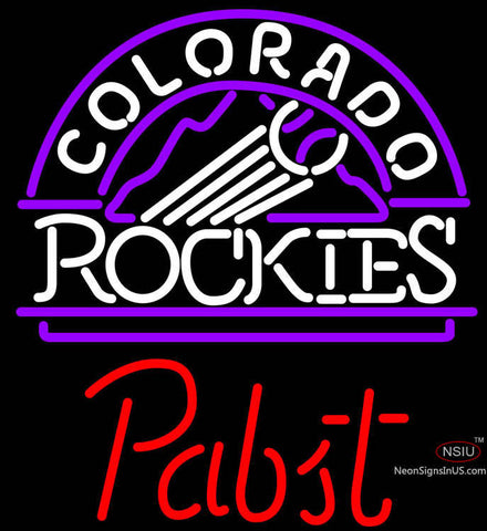Pabst Colorado Rockies MLB Beer Neon Sign