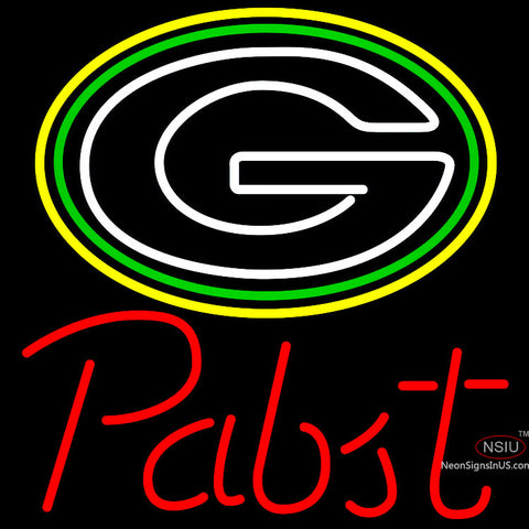 Pabst Green Bay Packers NFL Beer Neon Sign x