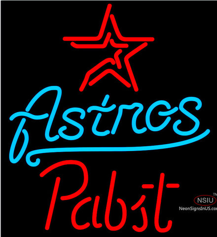 Pabst Houston Astros MLB Beer Neon Sign