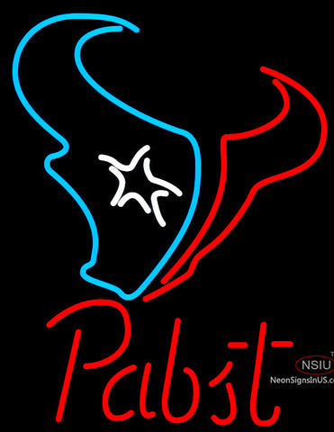 Pabst Houston Texans NFL Beer Neon Sign