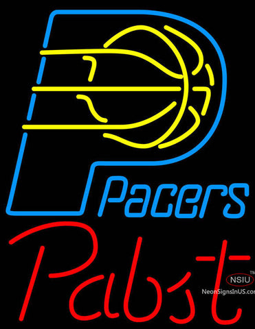 Pabst Indiana Pacers NBA Beer Neon Sign