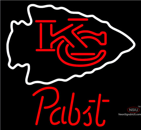 Pabst Kansas City Chiefs NFL Beer Neon Sign