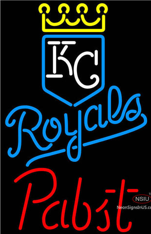 Pabst Kansas City Royals MLB Beer Neon Signs