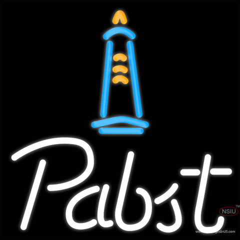 Pabst Light House Neon Beer Sign x