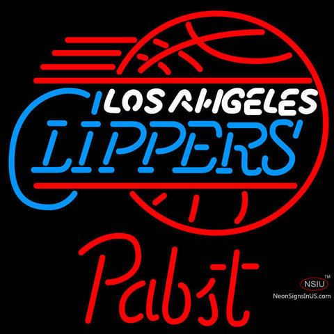 Pabst Los Angeles Clippers NBA Beer Neon Sign