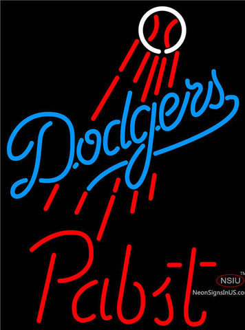 Pabst Los Angeles Dodgers MLB Beer Neon Sign