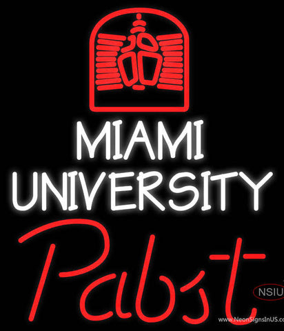 Pabst Miami UNIVERSITY Neon Sign  7
