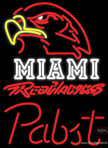 Pabst Miami UNIVERSITY Redhawks Neon Sign