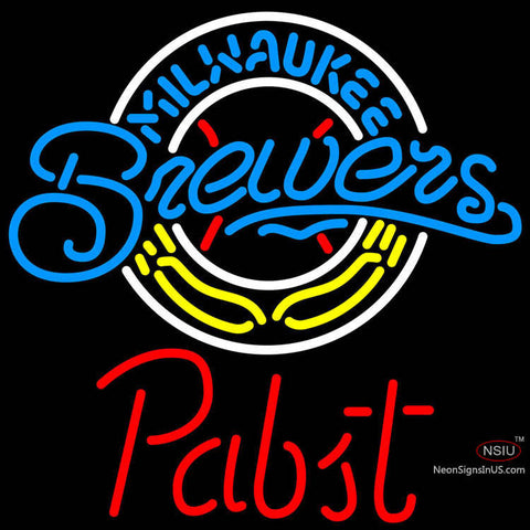 Pabst Milwaukee Brewers MLB Beer Neon Sign