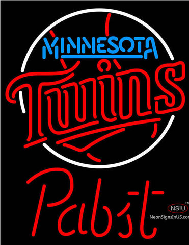Pabst Minnesota Twins MLB Beer Neon Sign