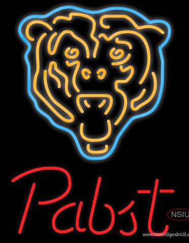 Pabst Neon Logo Chicago Bears NFL Neon Sign