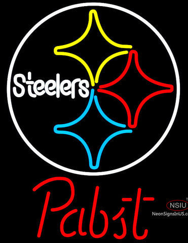 Pabst Pittsburgh Steelers NFL Beer Neon Sign