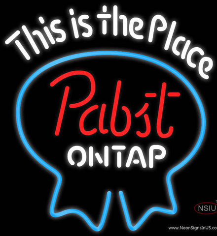 Pabst Light This Is The Place Neon Beer Sign