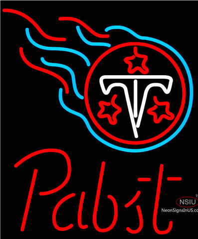 Pabst Tennessee Titans NFL Beer Neon Sign