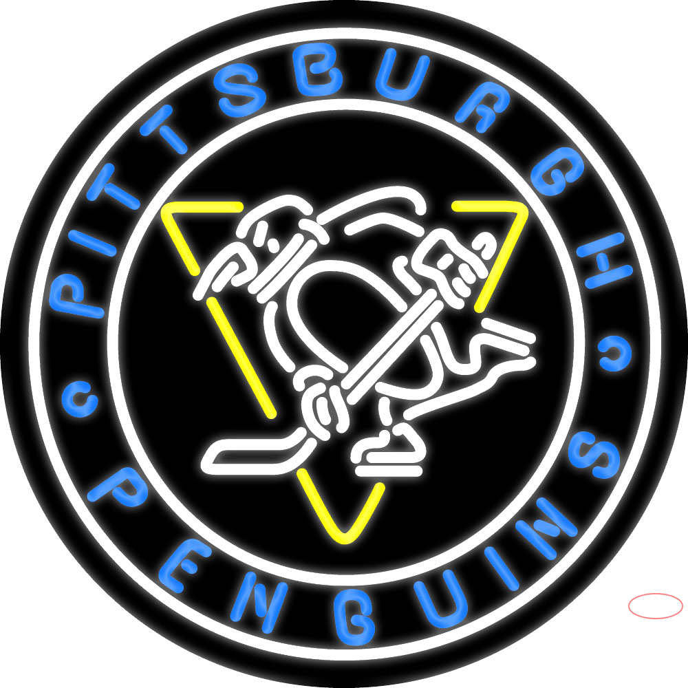 Pittsburgh Penguins Primary 7 Logo NHL Neon Sign ...