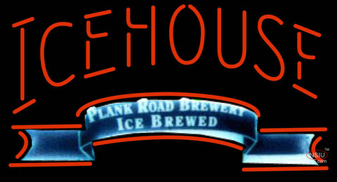 Icehouse Plank Road Brewery Red Neon Beer Sign