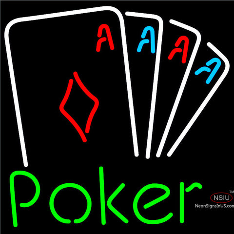 Poker Tournament Neon Sign x