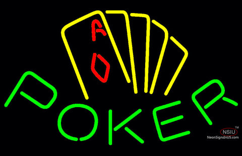 Poker Yellow Neon Sign