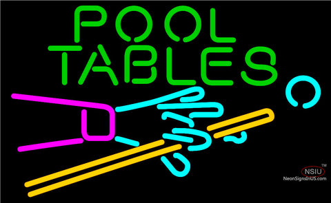 Pool Tables Billiards Neon Beer Sign