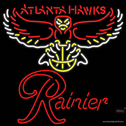 Rainier Atlanta Hawks NBA Neon Beer Sign