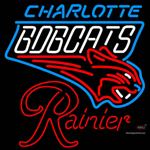 Rainier Charlotte Bobcats NBA Neon Beer Sign