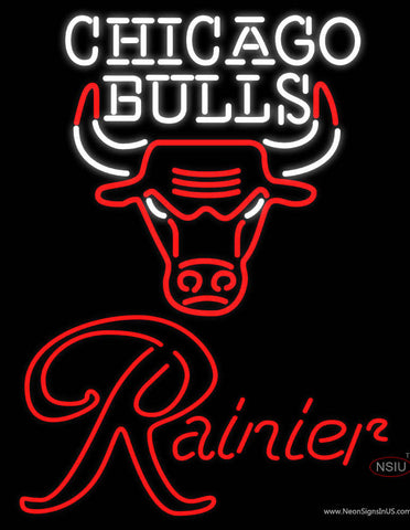Rainier Chicago Bulls NBA Neon Beer Sign