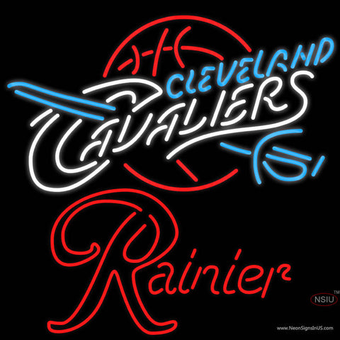 Rainier Cleveland Caveliers NBA Neon Beer Sign