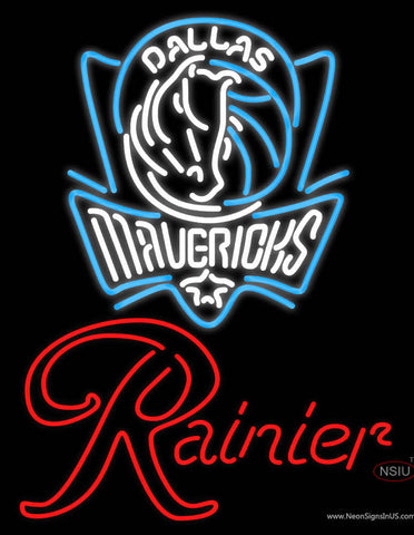 Rainier Dallas Mavericks NBA Neon Beer Sign