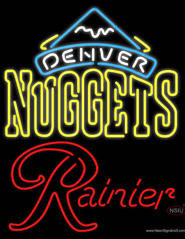 Rainier Denver Nuggets NBA Neon Beer Sign