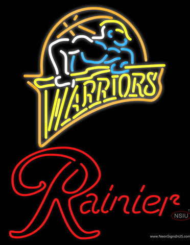 Rainier Golden St Warriors NBA Neon Beer Sign