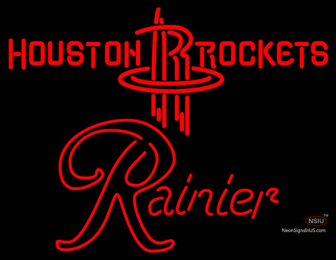 Rainier Houston Rockets NBA Neon Beer Sign