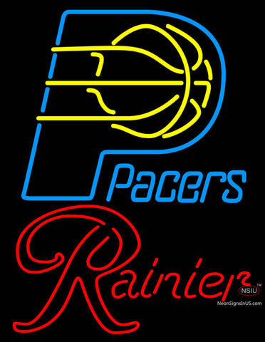 Rainier Indiana Pacers NBA Neon Beer Sign