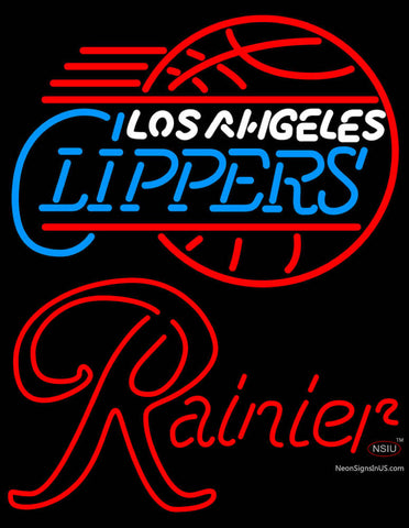 Rainier Los Angeles Clippers NBA Neon Beer Sign