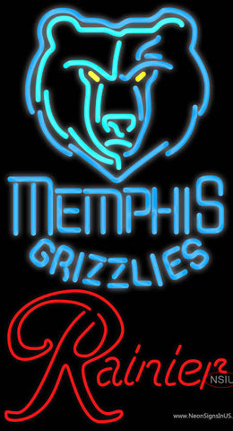 Rainier Memphis Grizzlies NBA Neon Beer Sign