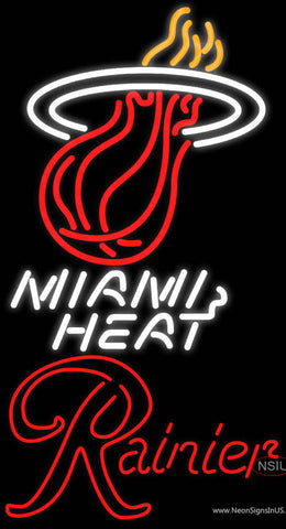 Rainier Miami Heat NBA Neon Beer Sign