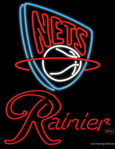 Rainier New Jersey Nets NBA Neon Beer Sign