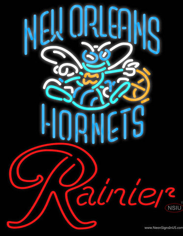 Rainier New Orleans Hornets NBA Neon Beer Sign
