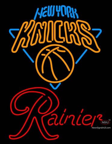 Rainier New York Knicks NBA Neon Beer Sign